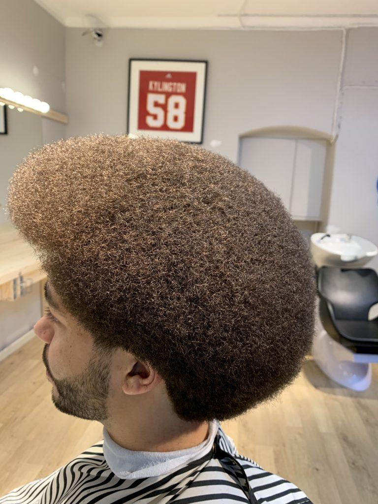 Afro haicut